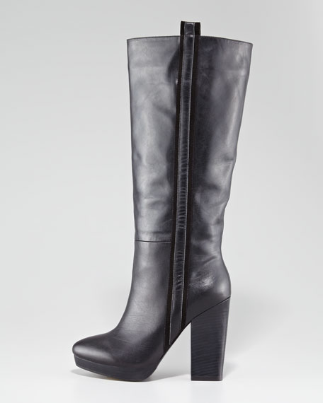 Be My Baby Leather Platform Boot
