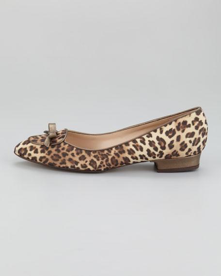 Sparkle Leopard-Print Flat