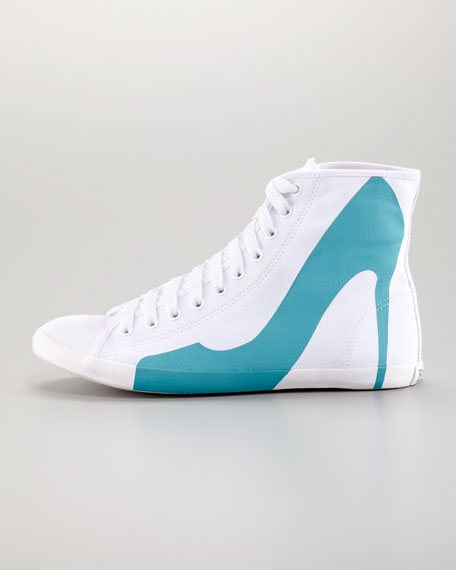 Big City Pump Silhouette Sneaker, Blue