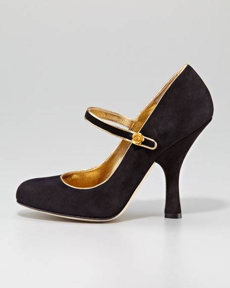 Mary Jane Suede Pump