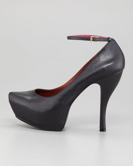 Hidden-Platform Ankle-Wrap Pump