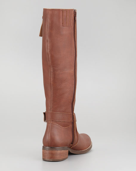 Slap on the Wrist Ankle-Buckle Tall Boot