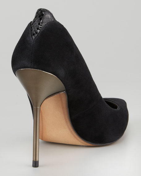 Danielle Suede Pointed-Toe Pump