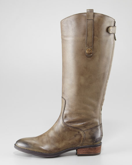 Penny Basto Crust Boot, Olive
