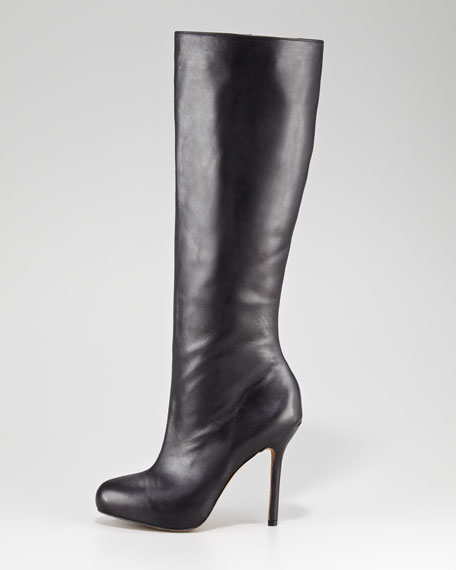 Empire Leather Boot, Black