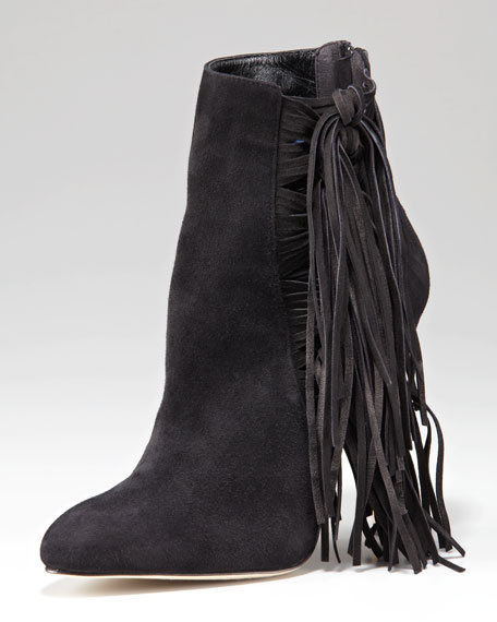 Pipi Suede Fringe Ankle Boot