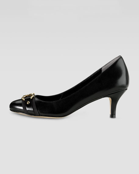 Lainey Low Leather Pump