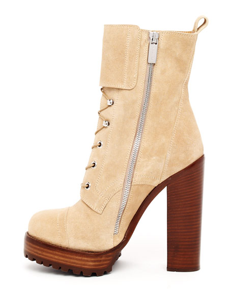 Lace-Up Buckle Boot