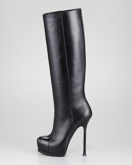 Tribtoo Cap-Toe Tall Boot