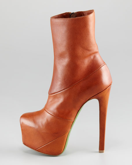 Laurel Leather Platform Bootie