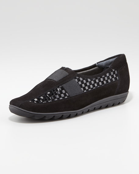 Jaylene Woven Leather Loafer