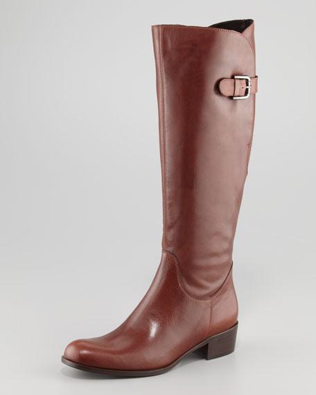 Adjustable-Calf Flat Boot