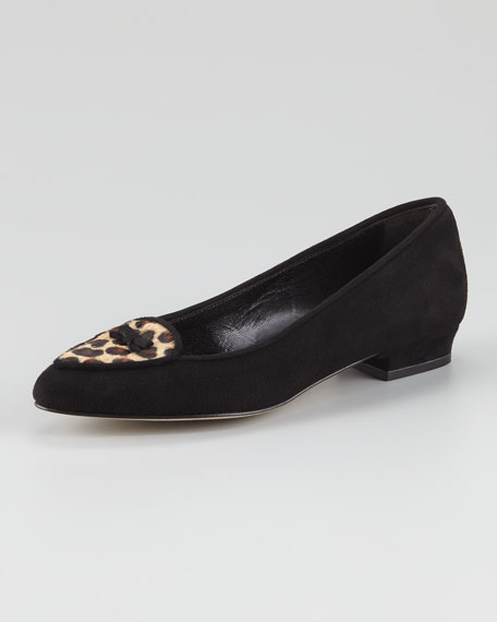 Laura Suede Smoking Slipper