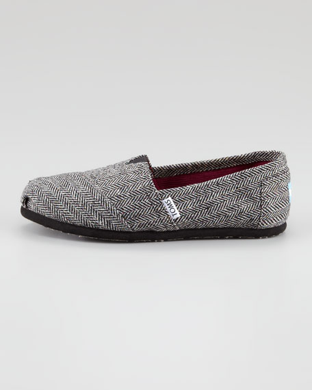 Shimmery Herringbone Slip-On