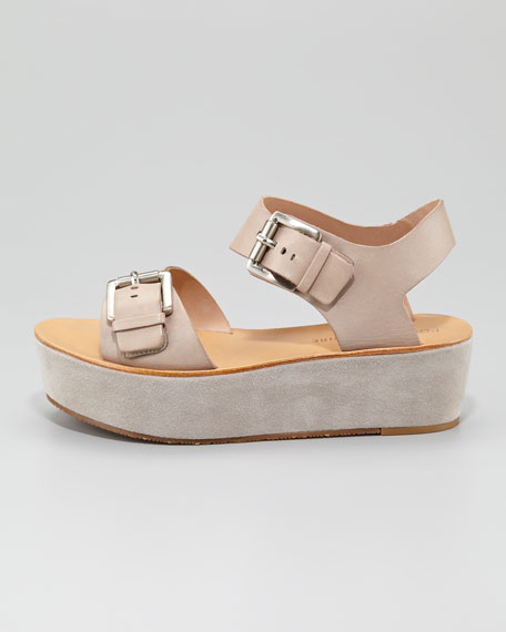 Caltha Flatform Sandal, Taupe