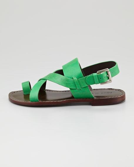 Jamary Toe-Ring Link Sandal, Kelly Green