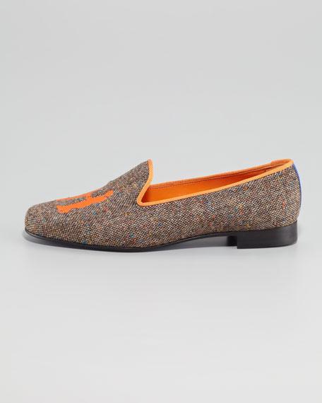 Audrey Tweed Smoking Loafer, Orange
