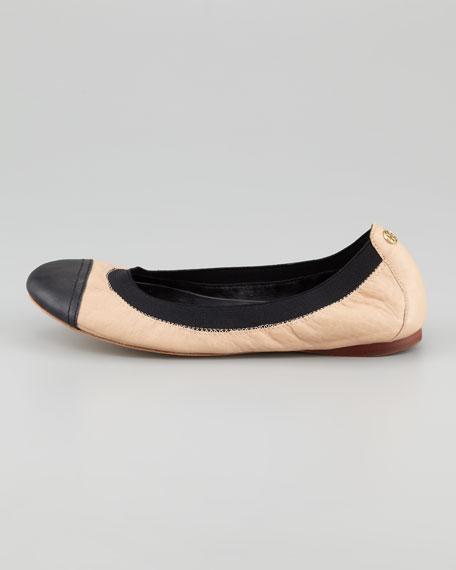 Carrie Cap-Toe Ballerina Flat