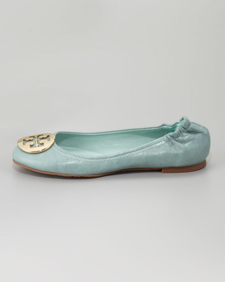 Reva Tumbled Ballerina Flat, Sea Glass
