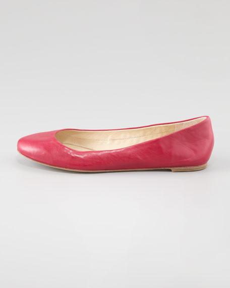 Lara Ballerina Flat, Cerise Pink