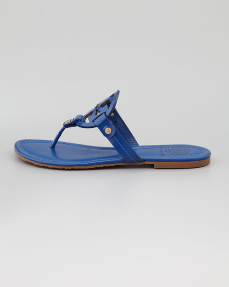 Miller Logo Flat Thong Sandal, Indian Ocean