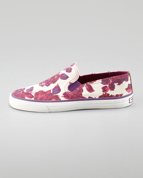Miles Canvas Slip-On Sneaker, Floral