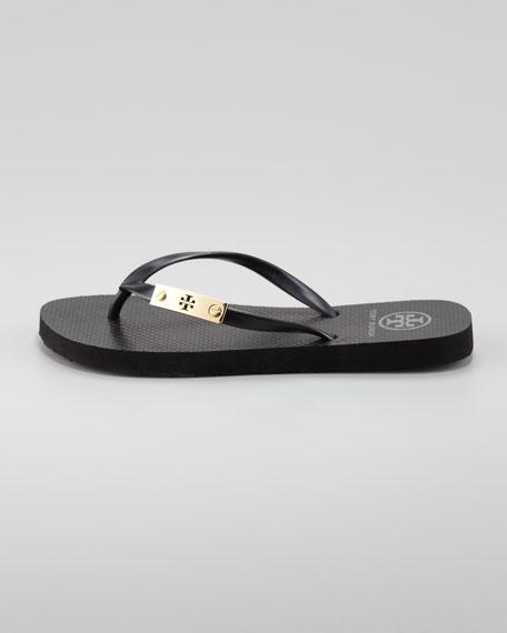 Elisha Logo-Plaque Flip-Flop, Black