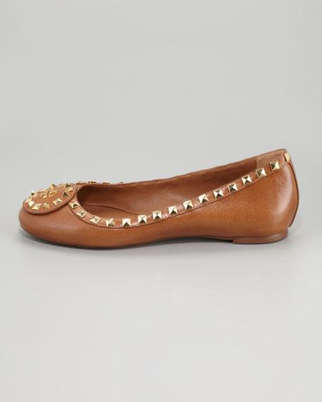 Dale Studded Ballerina Flat, Royal Tan