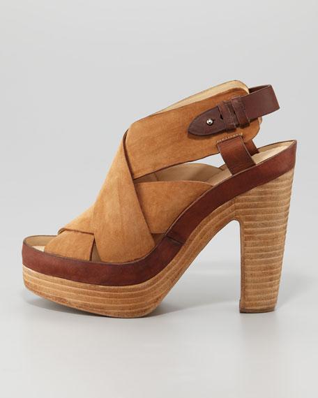 Sloane Nubuck Platform Sandal