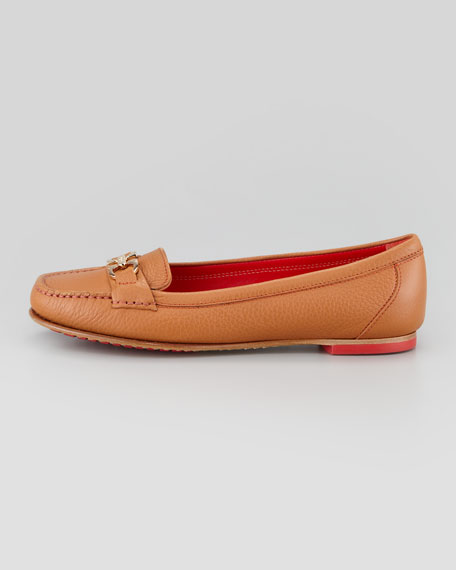Simba Gancini Leather Moccasin, Tan