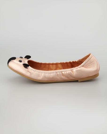 Soft Mouse Ballerina Flat, Rose Gold