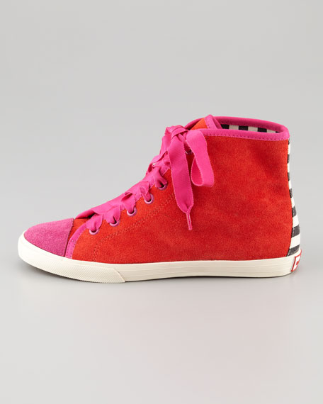 lorna novelty suede lace-up sneaker