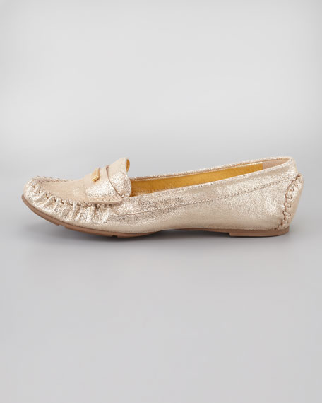 weekend rubber-bottom loafer, gold