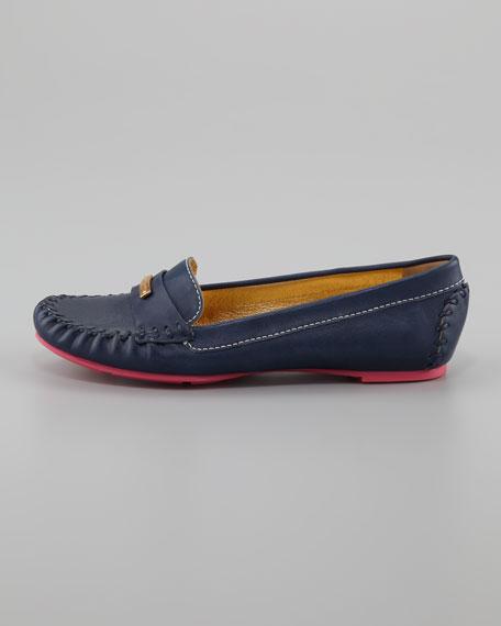 weekend contrast-sole loafer