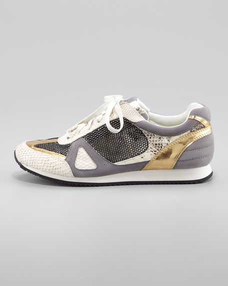 Jeni Mixed Material Sneaker