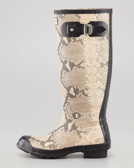 Carnaby Snake Welly Boot
