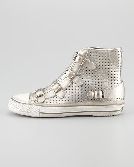 Star Cutout Metallic High-Top Sneaker