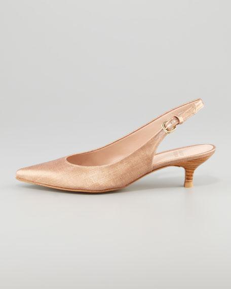 Poccosling Summer Linen Slingback, Copper