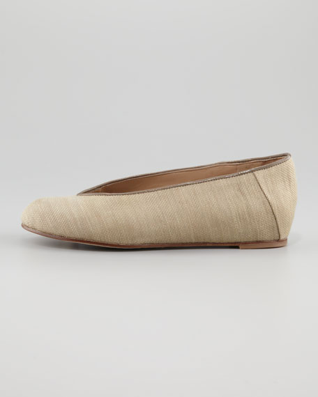 Raffia Envelope Ballerina, Wheat