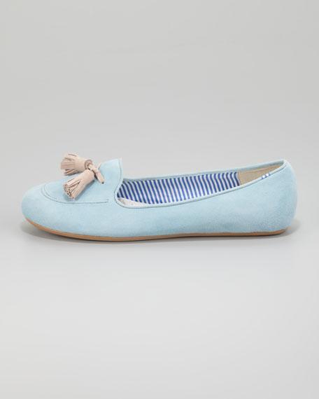 Sylvie Tassel Loafer, Aqua