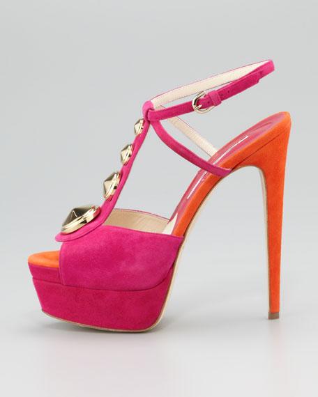 Clizia Studded Suede Sandal