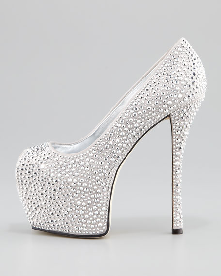 Crystal Exaggerated Platform Pump