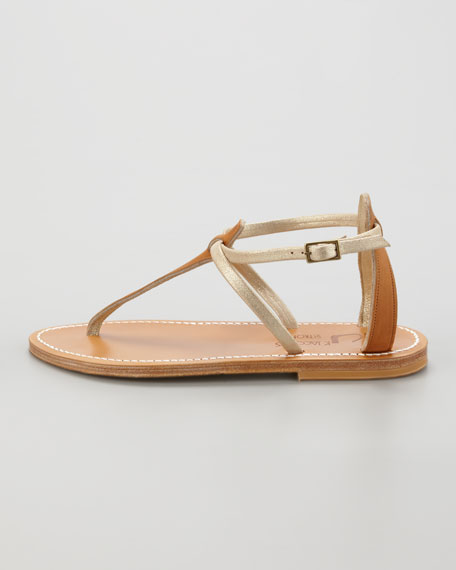 Buffon Two-Tone Strappy Thong Sandal