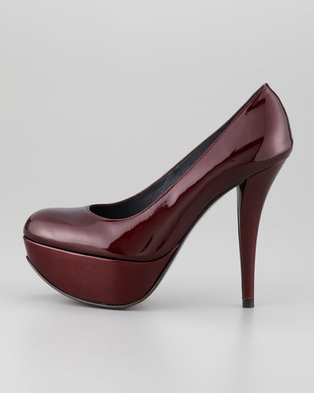 Saucy Patent Leather Platform Pump