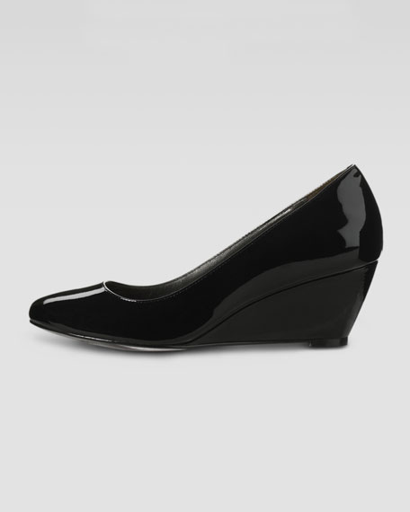 Air Lainey Patent Wedge Pump, Black