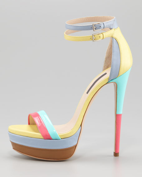 West Palm Patent Platform Sandal