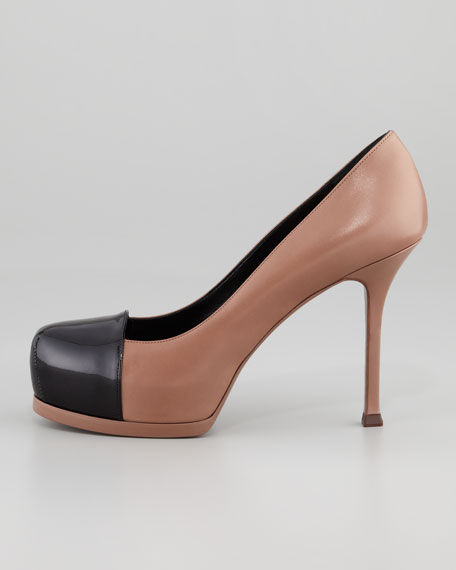 Tribute Two Patent Cap-Toe Pump