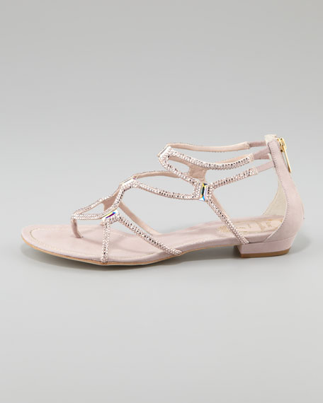 Crystallized Flat Thong Sandal