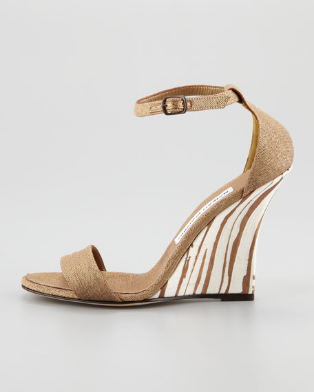 Izione Ankle-Strap Wedge Sandal