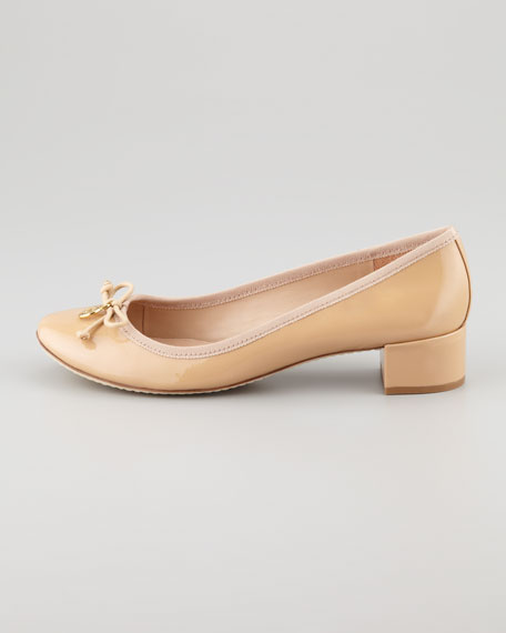 Chelsea Patent Charm Pump, Camellia Pink